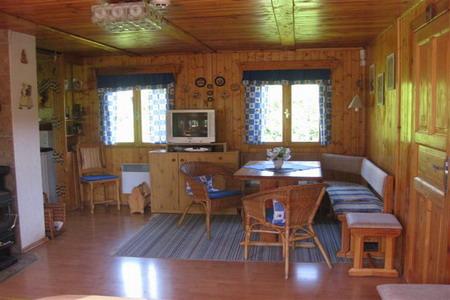 Chaty a chalupy - Chata v Polevsku v Lužických horách - obývací pokoj